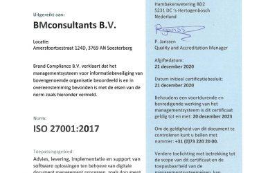 ISO 27001 certificering een feit!